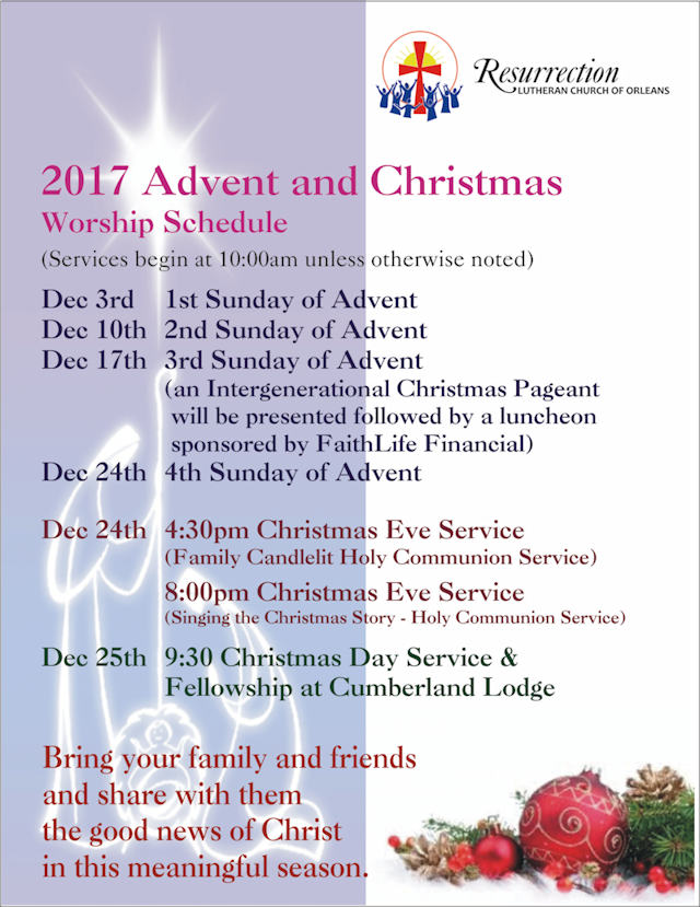 Advent Christmas poster